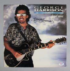George Harrison Signed Album LP Cover Cloud Nine – COA PSA/DNA