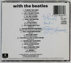 George Harrison Signed With The Beatles Cd Back Cover W/ Tracks Coa & Psa Y01276