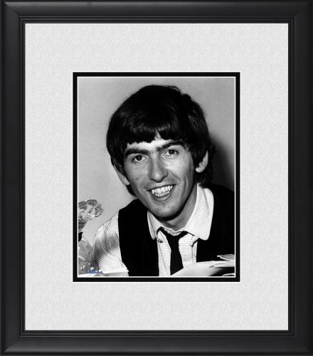 """George Harrison The Beatles Framed 8"""" x 10"""" Smiling Photograph"""