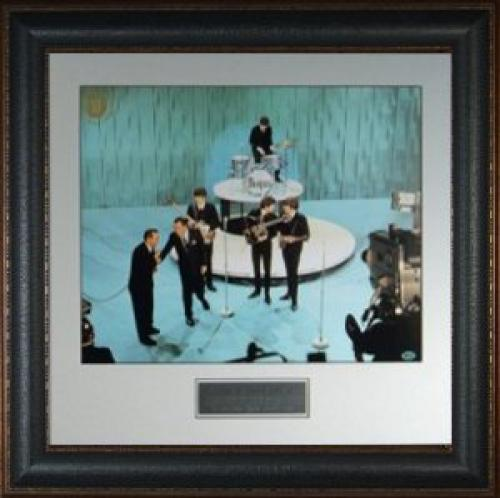 George Harrison unsigned The Beatles 16X20 Photo Leather Framed Ed Sullivan Show (entertainment)