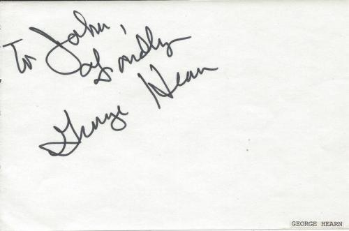 George Hearn Signed Vintage Album Page Sweeney Todd