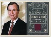 George H.W. Bush 2014 Panini Golden Age Relic 5x7 Box Topper Card 05/50