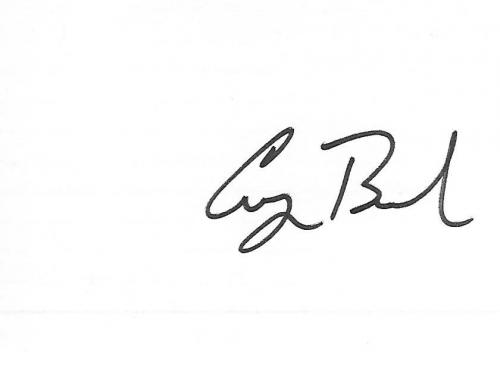 GEORGE H.W. BUSH - 41st PRESIDENT of the U.S. 1989-93 and 43rd VICE-PRESIDENT 1981-89 Signed 5x3 Index Card