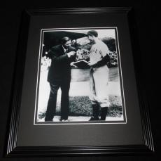 George HW Bush & Babe Ruth Framed 8x10 Photo Poster Yale