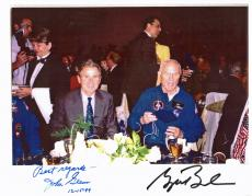 George W. Bush & John Glenn Signed Rare 8.5x11 Photo PSA #AB04424
