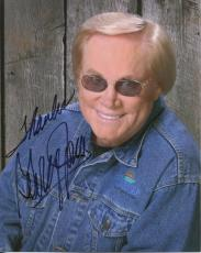Signed George Jones Photo - 8x10 +COA COUNTRY MUSIC LEGEND GREAT POSE