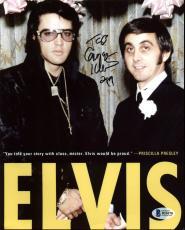 "George Klein ""TCB"" Signed 8X10 Photo w/ Elvis Presley BAS #B51070"