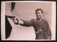 George Lazenby Hand Signed James Bond 16x20 Canvas 007 Auto PSA/DNA COA E