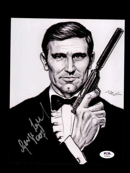 George Lazenby PSA DNA Cert Signed 8x10 Photo James Bond Autograph