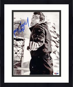 George Lazenby Psa Dna Coa Hand Signed 8x10 James Bond Photo Autograph