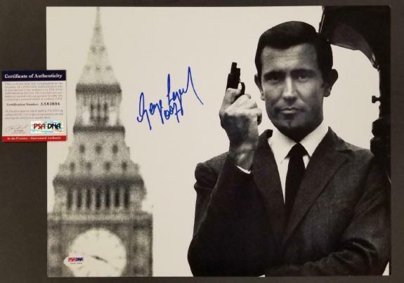 George Lazenby signed 007 James Bond 11x14 Photo #3 Autograph (A) ~ PSA COA