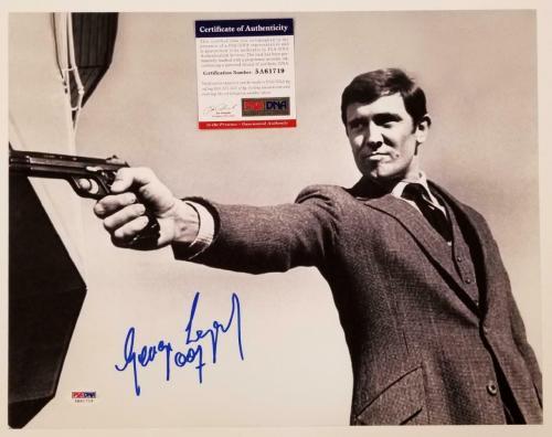 George Lazenby signed 007 James Bond 11x14 Photo #4 Autograph (C) ~ PSA COA