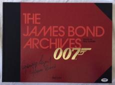 George Lazenby Signed 007 The James Bond Archives Hardback HUGE Book PSA/DNA COA
