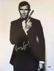 George Lazenby Signed On Her Majesty's Secret Service 11x14 James Bond PSA COA