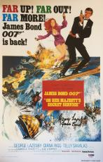George Lazenby Signed On Her Majesty's Secret Service 11x17 James Bond Insc PSA