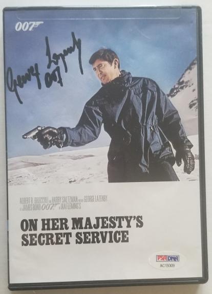 George Lazenby Signed On Her Majesty's Secret Service DVD James Bond PSA/DNA COA