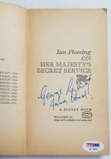 George Lazenby Signed ON HER MAJESTYS SECRET SERVICE James Bond 64' Book PSA COA
