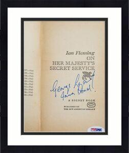 George Lazenby Signed ON HER MAJESTYS SECRET SERVICE James Bond 64' Book PSA COA