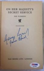 George Lazenby Signed ON HER MAJESTYS SECRET SERVICE James Bond 65' Book PSA COA