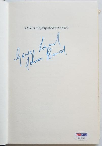 George Lazenby Signed ON HER MAJESTYS SECRET SERVICE James Bond HC 1963 Book PSA