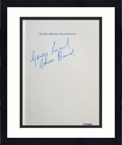 George Lazenby Signed ON HER MAJESTYS SECRET SERVICE James Bond HC 1963 Book PSA