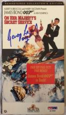 George Lazenby Signed On Her Majesty's Secret Service VHS James Bond 007 PSACOA