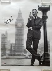 George Lazenby Signed with James Bond inscribed 16x20 Canvas Print PSA/DNA COA