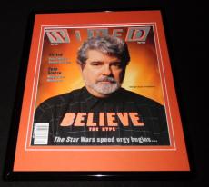 George Lucas 11x14 Framed ORIGINAL 1999 Wired Magazine Cover Star Wars