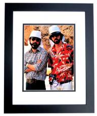 George Lucas and Steven Spielberg Signed - Autographed Indiana Jones - Legendary Directors 11x14 inch Photo BLACK CUSTOM FRAME - Guaranteed to pass PSA or JSA