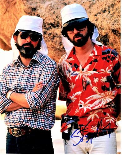 George Lucas and Steven Spielberg Signed - Autographed Indiana Jones - Legendary Directors 11x14 inch Photo - Guaranteed to pass PSA or JSA