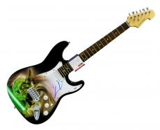 George Lucas Autographed Signed Airbrushed Star Wars Yoda Guitar Preorder PSA &