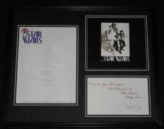 George Lucas Facsimile Signed Framed 1977 Star Wars Invite Repro & Photo Display