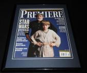 George Lucas Framed 11x14 ORIGINAL 1999 Premiere Magazine Cover Star Wars