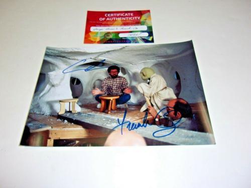 George Lucas Frank Oz Yoda Star Wars W/coa Signed Photo
