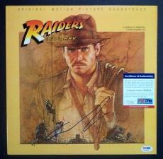 "George Lucas ""indiana Jones"" Signed Autographed Album Cover Psa/dna Coa Rare A"