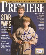 GEORGE LUCAS & JAKE LLOYD Star Wars Signed PREMIERE Magazine PSA/DNA #AB00987