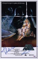 George Lucas & John Williams Signed Star Wars 11x17 Movie Poster Psa Loa Ad03195