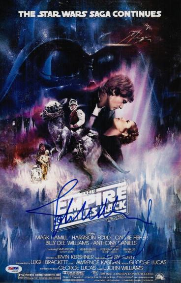 George Lucas John Williams Signed The Empire Strikes Back 11x17 Movie Poster Psa