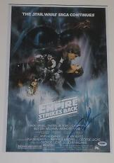 George Lucas Signed 12x18 Photo Star Wars Empire Strikes Back Psa/dna X90532