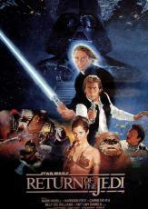 George Lucas Signed 12x18 Return Of The Jedi Poster Photo UACC RD COA AFTAL