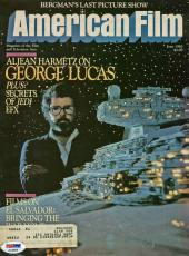 George Lucas Signed 1983 Magazine Cover w/ May the Force Be With You PSA/DNA
