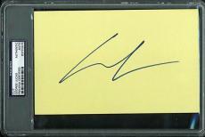 George Lucas Signed 5X8 Cut Autograph PSA/DNA Slabbed