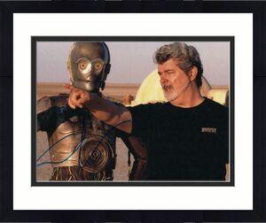 GEORGE LUCAS SIGNED AUTOGRAPH 11x14 PHOTO - STAR WARS, INDIANA JONES, BECKETT A
