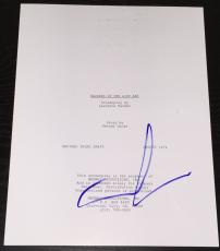 "George Lucas Signed Autograph 1981"" Indiana Jones Raiders Lost Ark"" Movie Script"