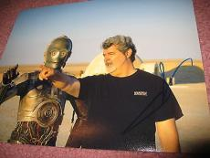 GEORGE LUCAS SIGNED AUTOGRAPH 8x10 PHOTO STAR WARS PROMO IN PERSON COA AUTO NY D