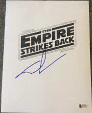 "George Lucas Signed Autograph Full Rare ""star Wars"" Esb Ep5 Movie Script Beckett"
