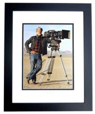George Lucas Signed - Autographed Star Wars Director 11x14 inch Photo BLACK CUSTOM FRAME - Guaranteed to pass PSA or JSA