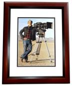 George Lucas Signed - Autographed Star Wars Director 11x14 inch Photo MAHOGANY CUSTOM FRAME - Guaranteed to pass PSA or JSA