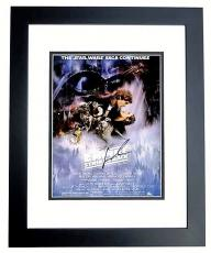 George Lucas Signed - Autographed Star Wars The Empire Strikes Back Director 11x17 inch Photo BLACK CUSTOM FRAME - Guaranteed to pass PSA or JSA