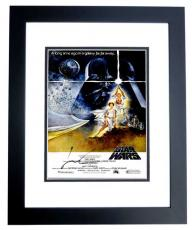 George Lucas Signed - Autographed Star Wars Director 11x17 inch Photo BLACK CUSTOM FRAME - Guaranteed to pass PSA or JSA